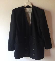 Vintage fekete blézer/kabát