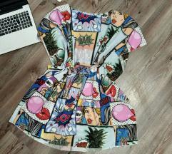 Új Képregény mintás ruha