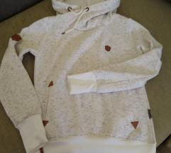 Kapucnis, meleg női pulóver CÍMKÉS
