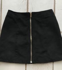 H&M rövid velúrszoknya