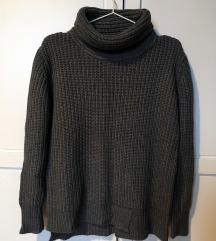 Zara kötött szürke pulcsi S