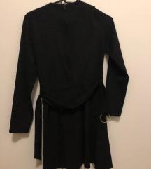 Új Zara öves bársony ruha S