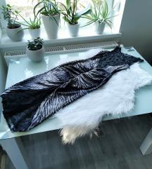 Egyedi zebra midi ruha M 🖤