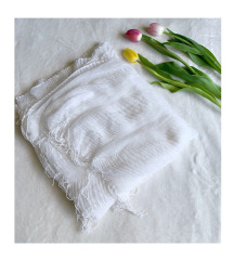 Fehér rojtos sál/ strandkendő (260 cm)