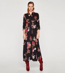 Zara virágos maxi ruha