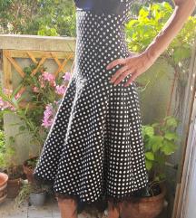 Vintage / retro / rockabilly pöttyös ruha XS, 34