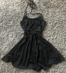 Cropp skater stílusú fekete nyári ruha (XS)