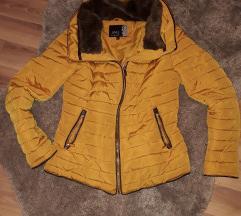 Mustarsárga S méretű kabát