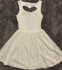 Fehér kivágott csipke ruha