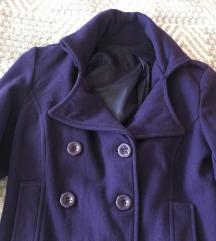 Lila rövid fazonú szövet kabát