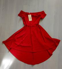 ÚJ, címkés burgundi aszimmetrikus ruha