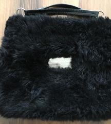 Dolce & Gabbana D&G szőrmés fekete nagy táska