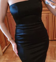 Max Mara kis fekete szatén ruha