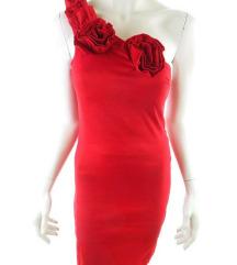 OLCSÓBB LETT! AX PARIS piros félvállas ruha