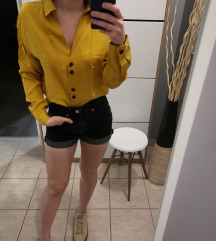 Zara mustár színű ing xs