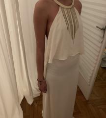 H&m szexi divatos bézs maxi ruha