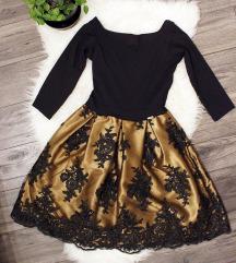 Roug arany - fekete ruha