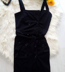Új, címkés gombos sliccelt ruha XS/S