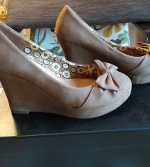 Éktalpú bézs balerina cipő (38)
