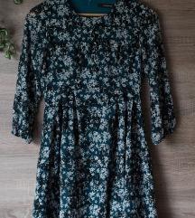 Reserved petrolkék virágos ruha