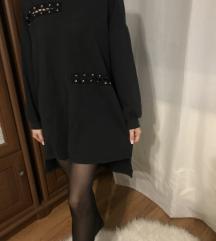 Zara fekete hosszú pulcsi