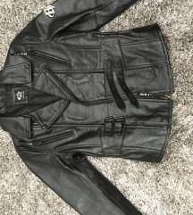 Biker fazonú eredeti új bőrkabát 36-os