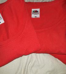 Egyszerű női piros pólók