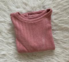 Rózsaszín zsenília pulóver
