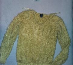 F&F csibesárga szőrös mohair pulcsi