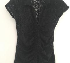 Csipkés fekete rövidujjú ing