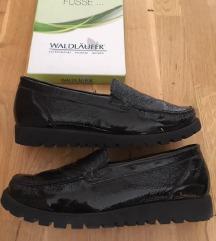 Waldlaufer fekete bőr cipő