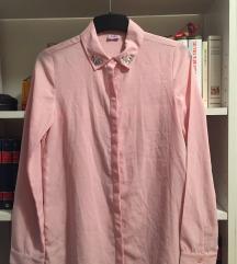 Rózsaszín mályva ing blúz s-m