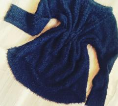 fekete plüss pulcsi