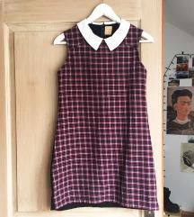 Zara kockás tweed ruha