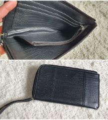 fekete kígyómintás bőr clutch pénztárca táska