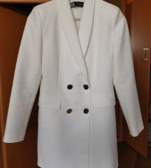 Zara fehér elegáns kabát ruha