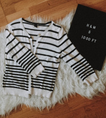 H&M csíkos kardigán