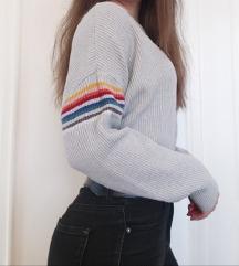 pull&bear szürke pulcsi