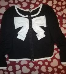 FOGLALVA Fekete-fehér retró masnis H&M boleró