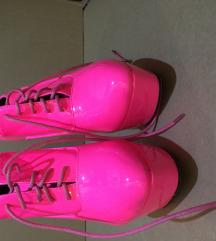 Belle Woman pink lakk, extrém, boka csizma, 38
