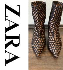 Zara szatén csizma