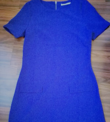 Kék térdig érő tunika ruha