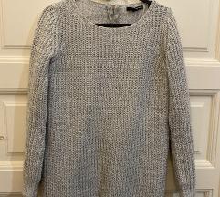 Hosszú szürke kötött pulcsi