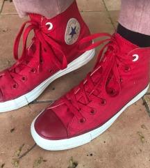 Vintage magasszárú piros converse 37