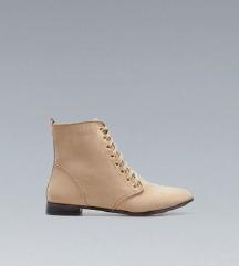 Zara Beige Flat Ankle Boot.