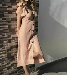 Zara új len ruha