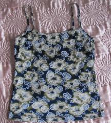 Virágmintás zöldes-kékes trikó