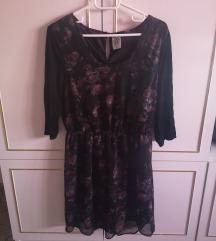 Pretty Gothic mintás fekete ruha