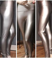 Ezüst/metál bőr leggings S/M, L/xl