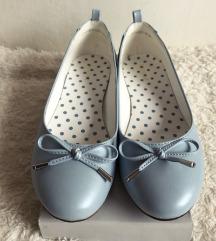 Pasztell kék masnis balerinacipő tavaszra